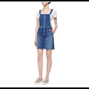 7 for all man kind jean overalls skirt style
